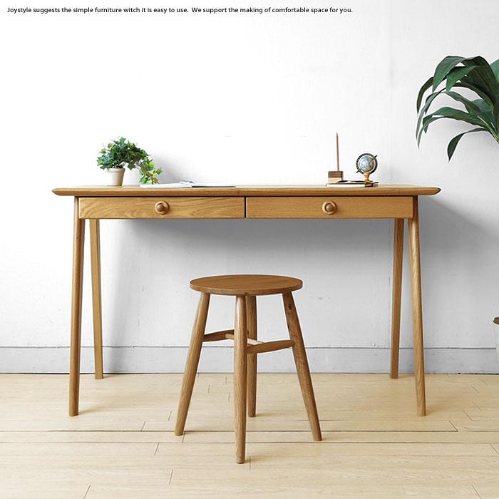 Width 120 Cm Oak Wood Desk Solid With Luxurious Natural Rough Hewn Wooden Roundish Cute Desks Scandinavian Taste Viola Dk