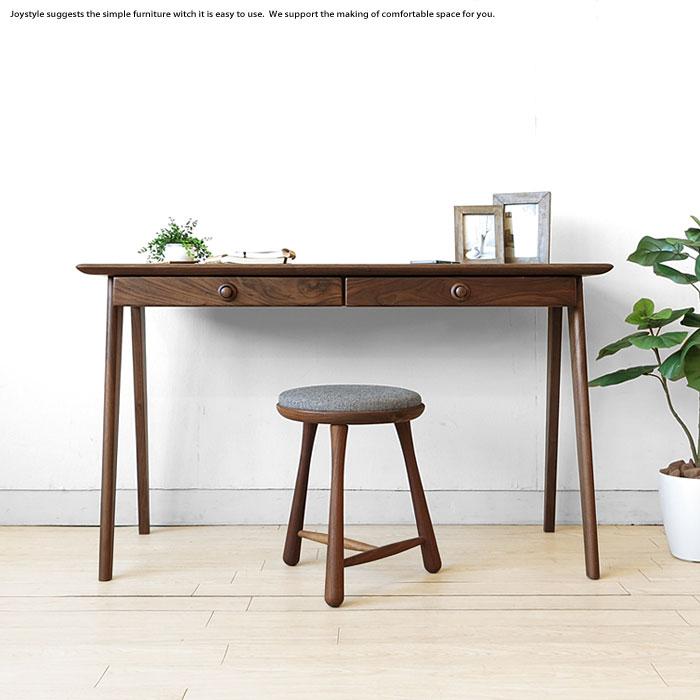 Width 120 Cm With Luxurious Walnut Solid Wood Desk Computer Tastefully Wooden Rounded And Lovely Desks Scandinavian Taste Viola Dk