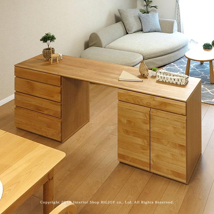 ユニットデスク ワーキングデスク パソコンデスク 開梱設置配送 幅180cm 間仕切り家具として置けるリバーシブル設計 裏面化粧 アルダー材