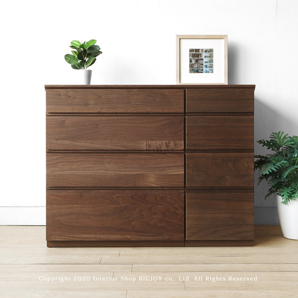 Attractive Combines Walnut Wood Walnut Solid Wood Small Drawer Unit Width 90 Cm  ユニットチェスト Storage Board ...