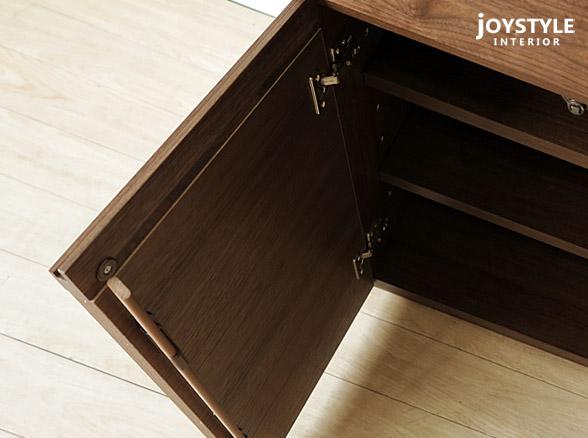 幅180cmウォールナット材ウォールナット無垢材木製机書斎机パソコンデスク引き出しと飾り棚を組み合わせたユニットデスクWONDER-DK180-C(※チェア別売)