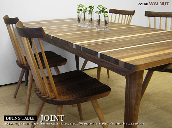 Distinctive Design Combines The Natural Wood Solid Maple Black Cherry Walnut 3 Species Width 150 Cm Dining Table Joint DT150WN