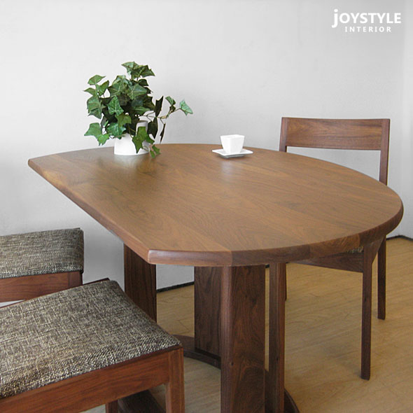 round dining table with leaf extension for 6 melbourne walnut solid wood natural width cm counter set 4