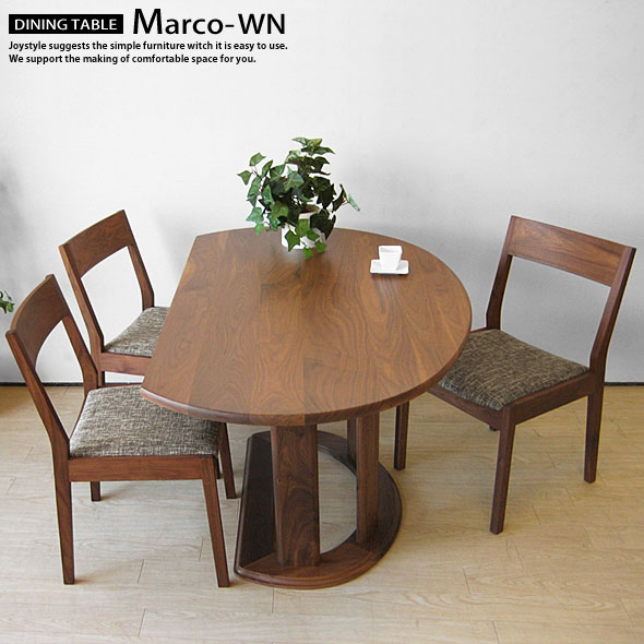 Elegant Walnut Solid Wood Natural Wood Width 135 Cm Width 150 Cm Half Round Table  Counter Table Dining Table MARCO WN (* Chairs Sold Separately) Internet  Shop ...