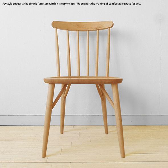 メープル材 メープル無垢材 メープル天然木 木製椅子 重さ4kgの軽量チェア ナチュラルな色合いのダイニングチェア ウインザーチェア