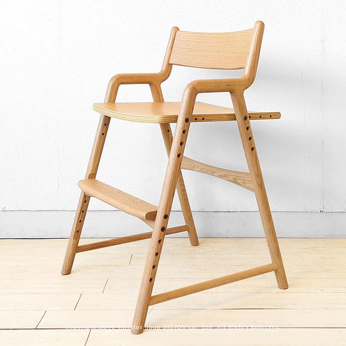 デスクチェア 勉強椅子 学習デスク用のイス 子供チェア オーク材 オーク無垢材 ダイニングや子供部屋で使える