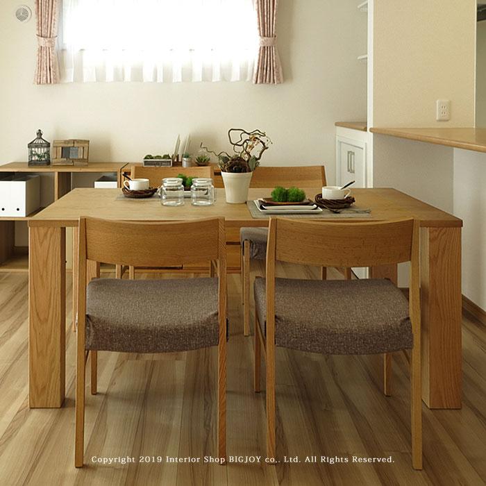 ダイニングテーブル 食卓 開梱設置配送 4人掛けテーブル レッドオーク材 ウォールナット材 140cm 160cm 180cm 無垢材 シンプルデザイン