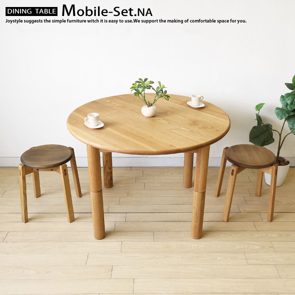 Wondrous Two Tone Color Combination Dining Table For Both Living Table With 100 Cm Diameter Ash Wood And Ash Wood With Walnut Tool 2 Legs 3 Point Set Tamo Download Free Architecture Designs Rallybritishbridgeorg