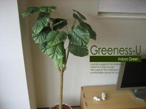 モデルルームで使用する水遣りのない人工樹木、人工観葉植物ウンベラータ Greeness-U