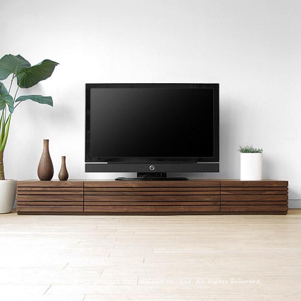 テレビ台 和モダンテイストなテレビボード 受注生産商品 幅150cm 180cm 210cm 240cmの5サイズ ウォールナット材 ウォールナット無垢材 木製 REGATO-TV240