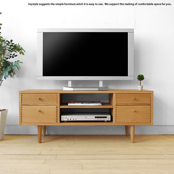 テレビ台 奥行35cmのコンパクト設計のテレビボード 受注生産商品 幅116cm ナラ材 ナラ無垢材を贅沢に使用した木製 ナチュラル色 ダークブラウン色 2色展開