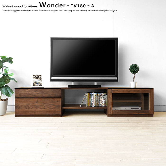 Joystyle interior rakuten global market glass door with walnut glass door with walnut wood walnut solid wood wooden tv stand drawer units tv board unit furniture wonder tv180 a solid shelf delivery 30 day planetlyrics Images