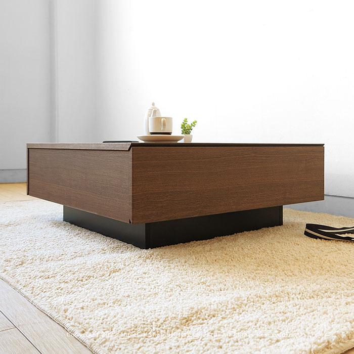 アウトレット展示品処分 ウォールナット色 ブラック色 モダンデザイン ローテーブル センターテーブル PORTAL-LT