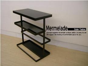【在庫限り】オシャレで実用的なサイドテーブル Mermelade ブラック色