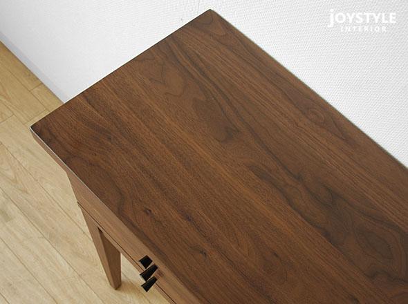 宽 80 厘米的核桃木核桃固体材料天然木材木制的物体像圆滑控制台表胸部内阁的猜测-CB80WN