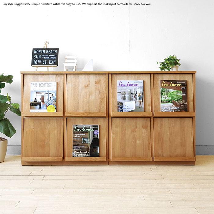 受注生産商品 幅154cm アルダー材 アルダー突板 木製本棚 シンプルモダンデザイン オフィス家具 ブックシェルフ ナチュラルな質感が魅力的なディスプレイラック 77cm幅を2台並べています