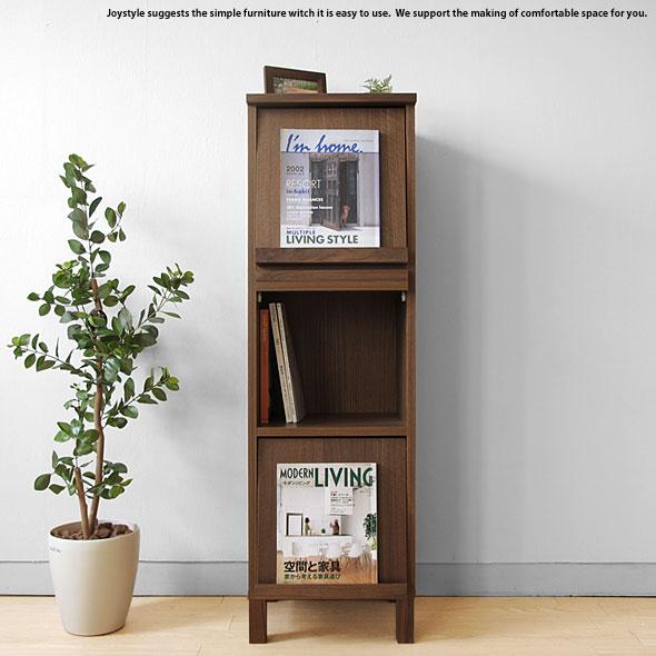 ブックシェルフ ディスプレイラック チェスト 幅40cm ウォールナット材 ウォールナット無垢材 天然木 木製本棚 シンプルモダンデザイン オフィス家具
