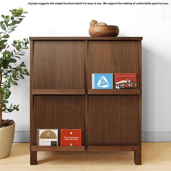 幅77cm ウォールナット材 ウォールナット無垢材 天然木 木製本棚 シンプルモダンデザイン オフィス家具 ブックシェルフ ディスプレイラック チェスト