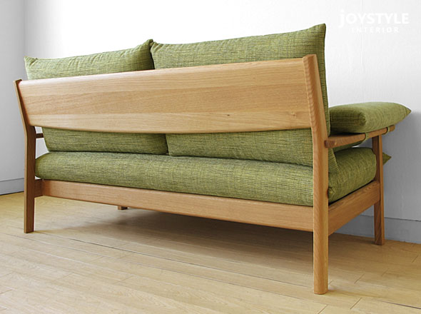 Two cover ring sofa domestic production sofa wooden sofa credit 2P sofa ALBIREO-2P net shops-limited original setting of the Japanese oak materials Japanese oak pure materials Japanese oak tree natural taste wooden frame