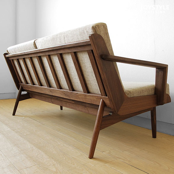 Merveilleux Walnut Wood Walnut Solid Wood Frames Furcabalingsofer Wooden Couch 2 P 2.5  P Tall Lattice Of High Quality Design 2.5 Seat Sofa LOFT LS2.5P