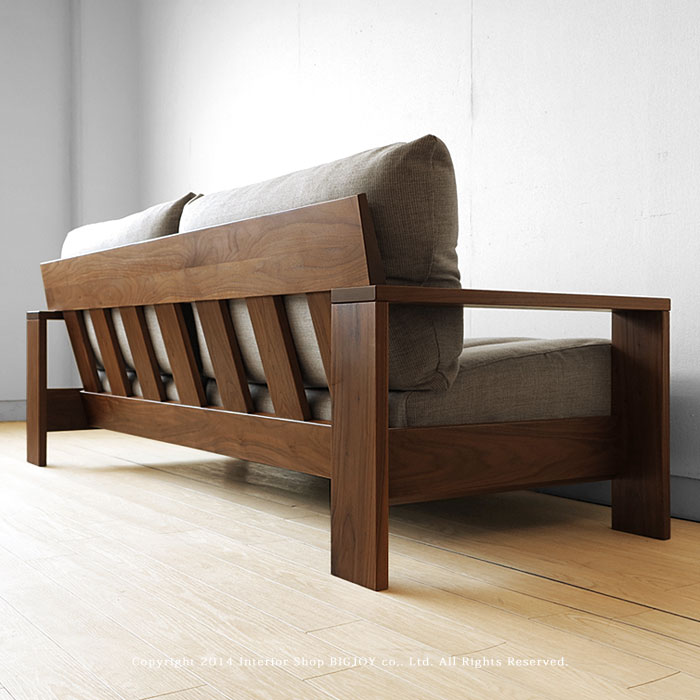 Walnut Solid Wood Wooden Frames Covering Sofer Domestic Sofa Couch 1 P 2 5 3 Lenoa Wn Size Depends On The Amount