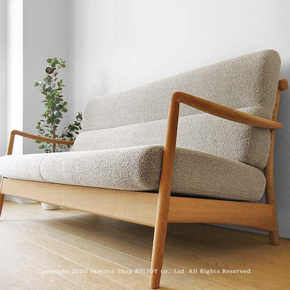 The Wooden Sofa Cover Ring Sofa SCANDIC 2P Net Shop Limited Original  Setting Where A Design Of The Domestic Japanese Oak Materials Japanese Oak  Innocent ...