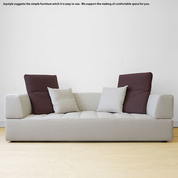 ※現在欠品中です。3Pソファー 3人掛けソファー 受注生産商品 開梱設置配送 幅187cm 210cmの2サイズ キルティング加工 フルカバーリングソファー