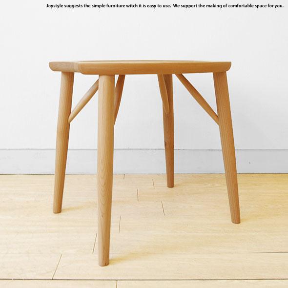 メープル材 メープル無垢材 メープル天然木 木製椅子 重さ2.5kgの軽量スツール ナチュラルな色合いのスツール