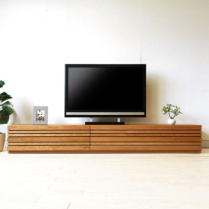 【受注生産商品】幅120cm 150cm 180cm 210cm 240cmの5サイズ ブラックチェリー材 ブラックチェリー無垢材 木製テレビ台 和モダンテイストなテレビボード REGATO-TV210