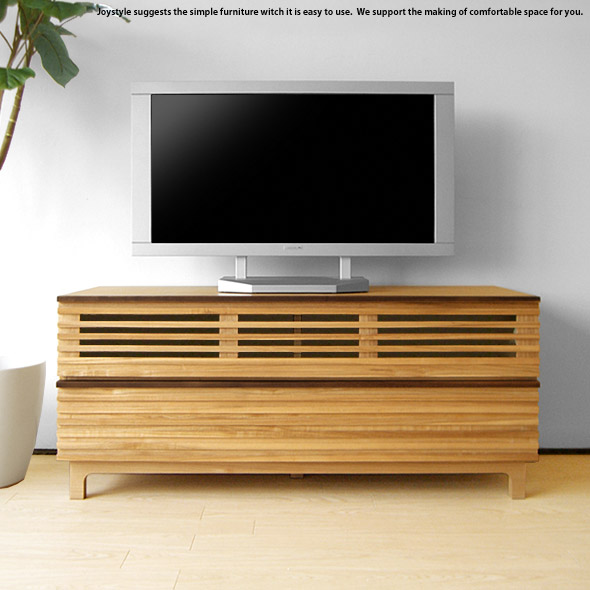 The Tv Board Which Is Natural Taste Using タモ Pure Materials