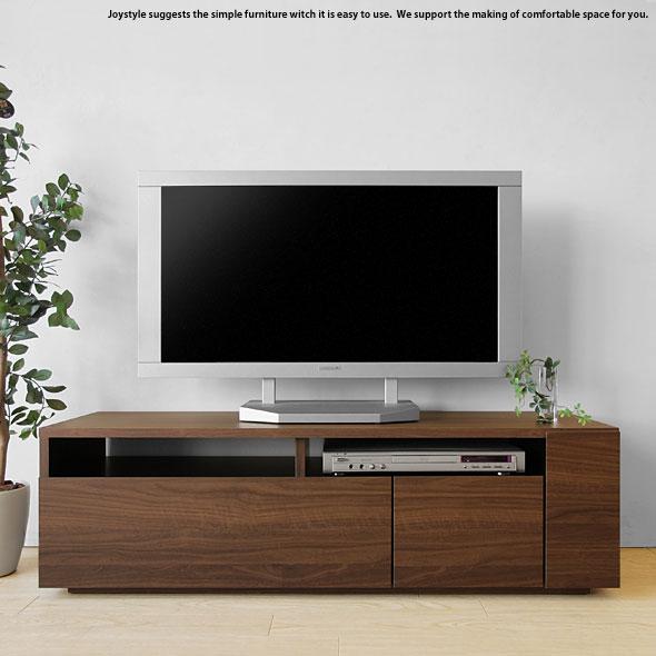 テレビ台 開梱設置配送 幅120cm ウォールナット色 和モダンテイスト 木製テレビ台 収納力があるシンプルモダンデザインのロータイプのテレビボード