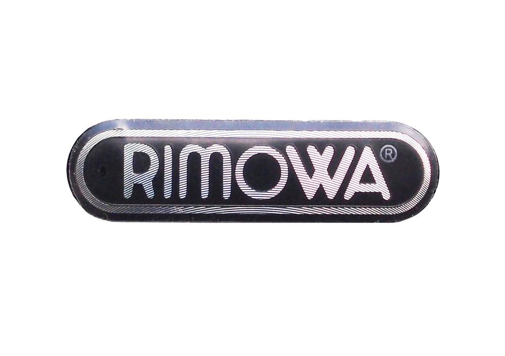 リモワ RIMOWA アルミロゴシール 純正部品 サイズ 横幅 33mm 1個 当店限定販売 純正パーツ カスタマイズに修理交換に 売れ筋ランキング