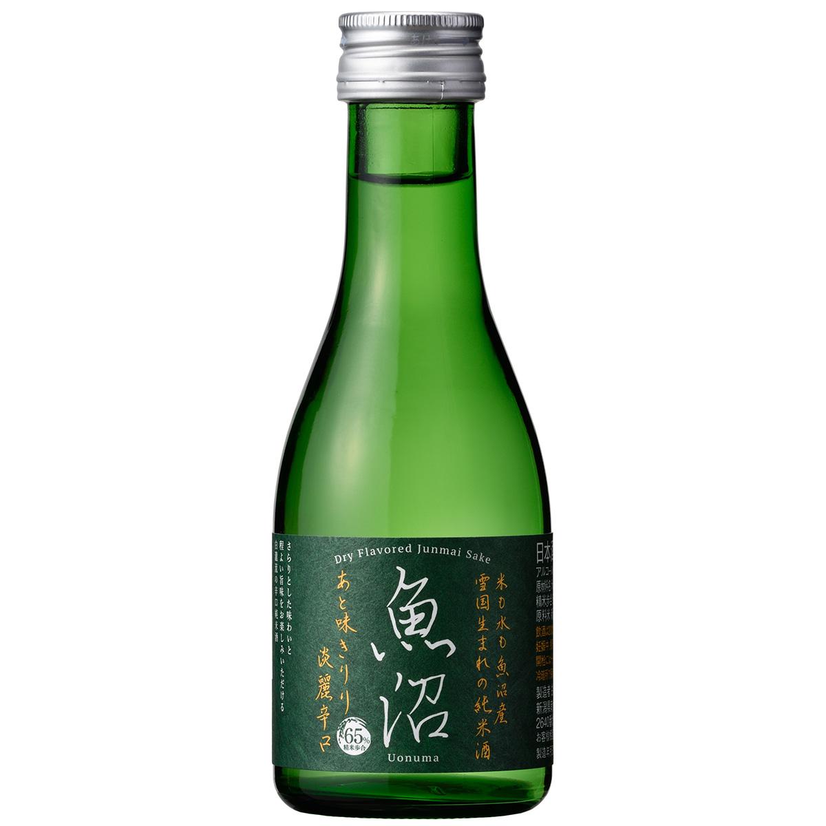 魚沼産の米のみで仕込んだ辛口の純米酒 在庫限り 白瀧酒造 淡麗辛口魚沼 純米 180ml 日本酒 ギフト 推奨 新潟