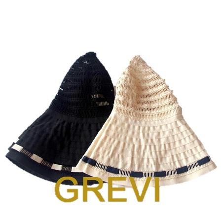 Grevi 帽子 グレヴィ ハット 折りたたみ レース つば広 ブレードハット UV 夏 帽子 レディース UVカット 紫外線防止 日よけ おしゃれ 黒 白【送料無料】