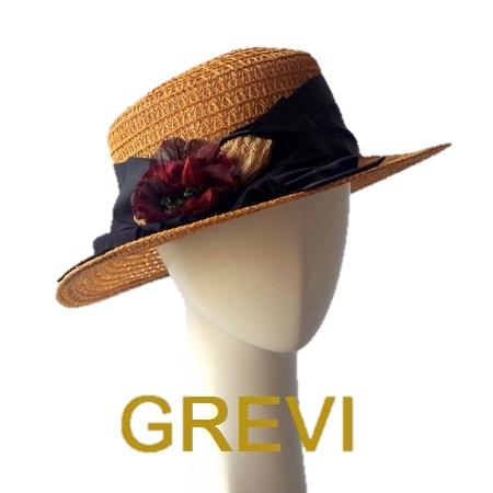 Grevi 麦わら帽子 グレヴィ ストローハット 花 コサージュ かわいい UV 夏 夏帽子 ハット レディース UVカット 紫外線防止 日よけ おしゃれ 【送料無料】
