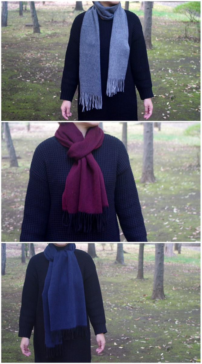 Unisex Women Men Winter Warm Oversized Solid Color Long Knit Scarf with Fringe