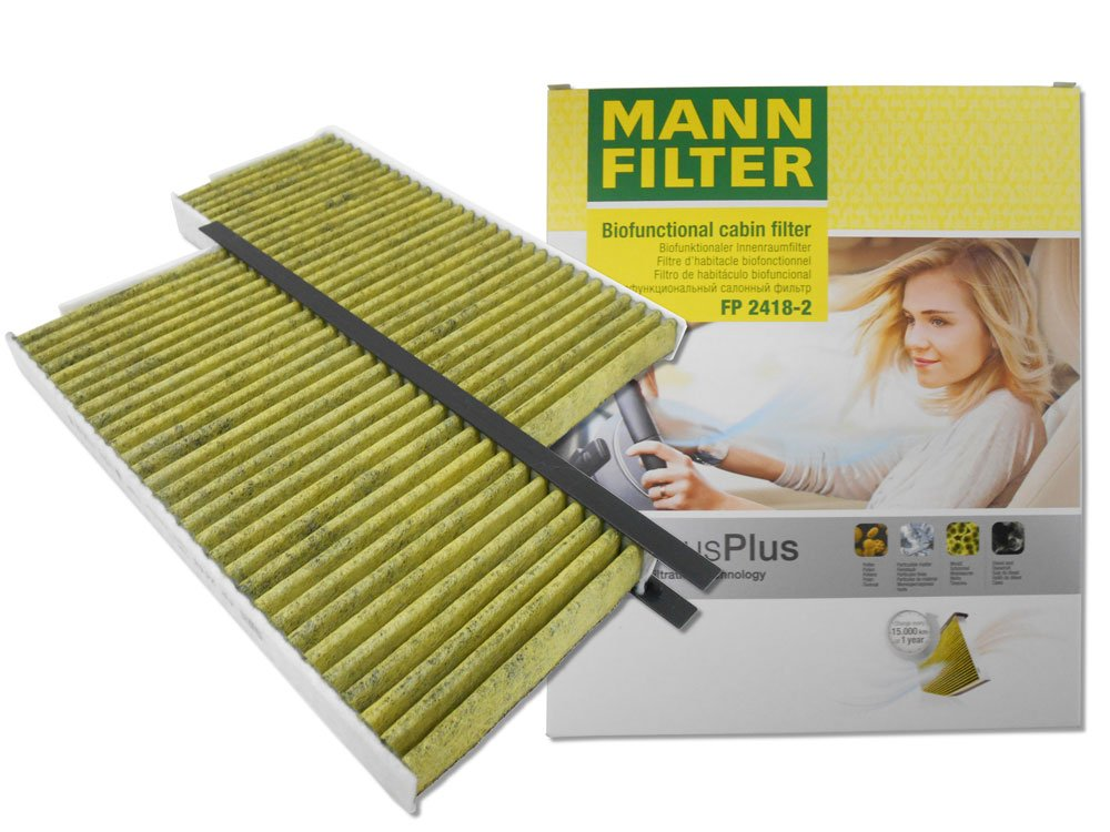 MANN-FILTER は 欧州車純正フィルターメーカーのオリジナルブランドです カードマイカー割で5倍 MANN エアコンフィルター ルノー カングー 価格交渉OK送料無料 カングービボップ 抗菌 FP2418-2 抗カビ 三層構造 送料無料 ポイント消化 活性炭入り花粉 公式ショップ 2個入り