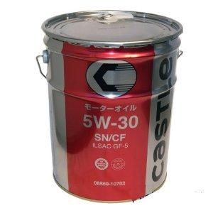 【エントリーでポイント3倍】キャッスル エンジンオイル SN CF 5W-30 ペール缶 20L ポイントUP 領収書OK 企業 法人