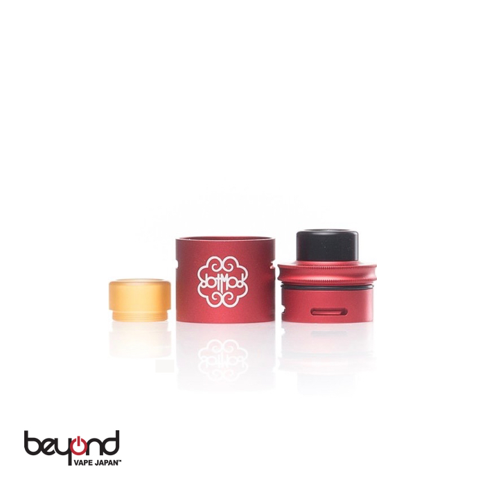 【BeyondVapeJapan】 最新 電子タバコ VAPE アトマイザー【DotMod】Conversion Cap with RDA Red【VAPE用】
