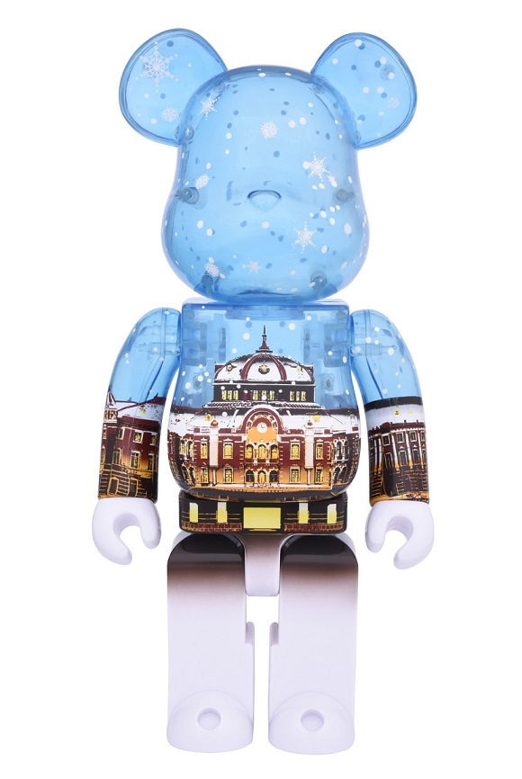 BE@RBRICK(ベアブリック)東京駅丸の内駅舎モデル Snow Ver.400% 送料込