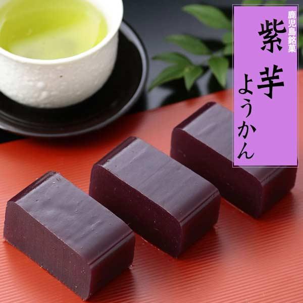 紫芋を使用した練り羊羹です 九州 ギフト 2021 寿屋 1本 定価 セール 紫芋ようかん 鹿児島銘菓I83V01 常温