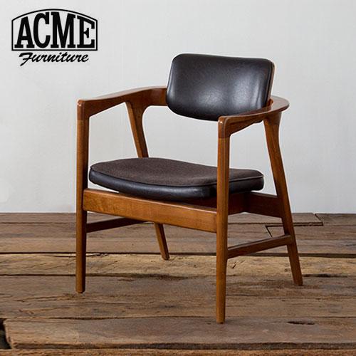 ACME Furniture アクメファニチャー WARNER ARM CHAIR BLACK ワーナー ダイニングチェア ブラック アームチェア【送料無料】