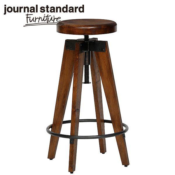 journal standard Furniture ジャーナルスタンダードファニチャー CHINON HIGH STOOL シノン ハイスツール ウッドシート 座面昇降 B00IFS8P8S【送料無料】