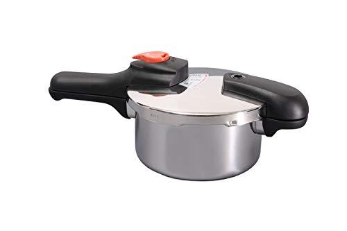 パール金属 片手 圧力鍋 2.5L IH対応 圧力切替式 爆売り 正規逆輸入品 節約クック レシピ付 H-5434 ステンレス