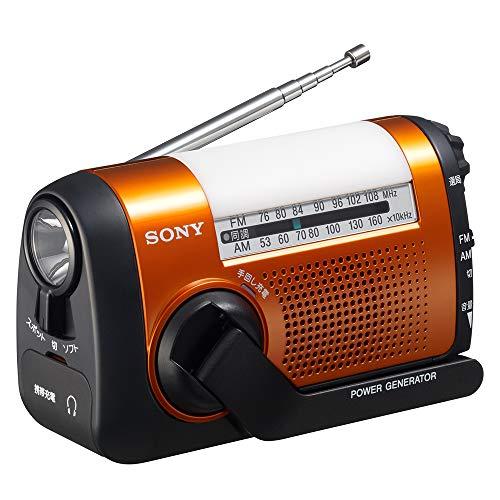 ソニー ポータブルラジオ ICF-B09 : FM 安心の実績 高価 買取 強化中 公式ショップ 手回し充電対応 ワイドFM対応 オレンジ AM D