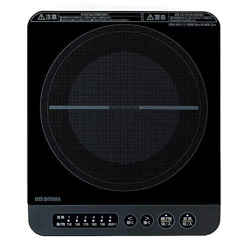 美品 アイリスオーヤマ IHコンロ 1400W 卓上 激安超特価 IHK-T37-B ブラック デザイン