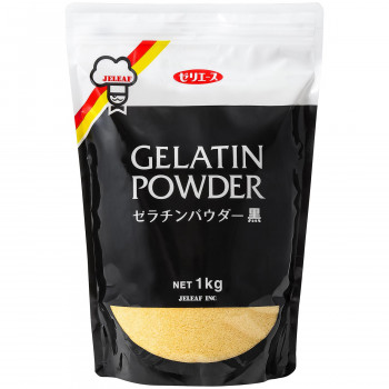 トレンド 正規激安 ゼラチンでもっとおいしく コラーゲンでもっと豊かに ゼリエース ゼラチンパウダー黒 1kg 同梱 粉末 1セット 代引不可