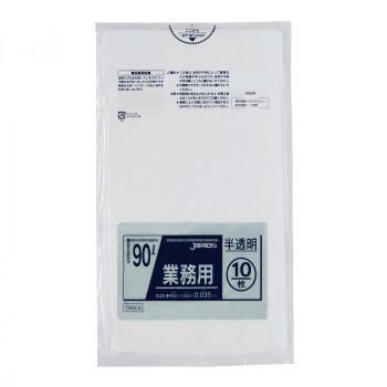 半透明 TM954 同梱・代引不可  ジャパックス スタンダードポリ袋90L 10枚×30冊
