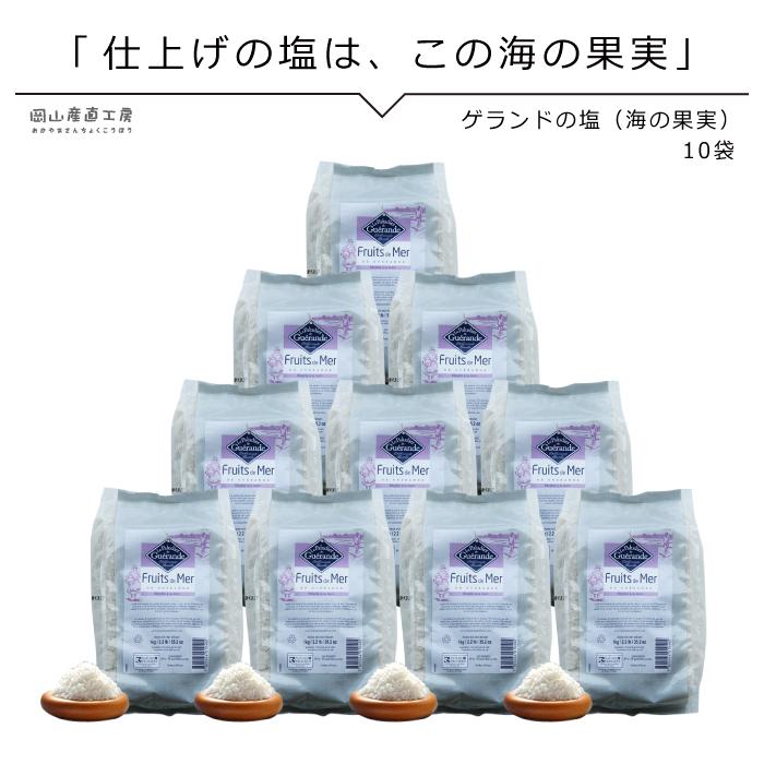 海の果実 ゲランドの塩 海の果実 1kg×10袋 フリュードメールドゲランド フランス有機農業推進団体認定品 アクアメール お得なまとめ買い 塩 フランス 業務用 大量