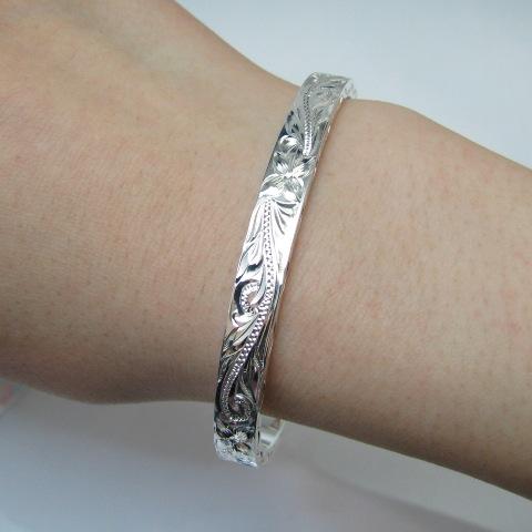【ハワイアンジュエリー hoo】 シルバー バングル レディース SV silver bracelet【楽ギフ_包装選択】